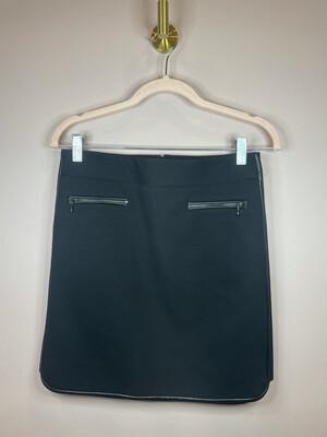 White House Black Market Black Skirt w/Zipper Pockets - Size 0
