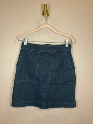 LOFT Denim Skirt w/ Pockets - Size 0