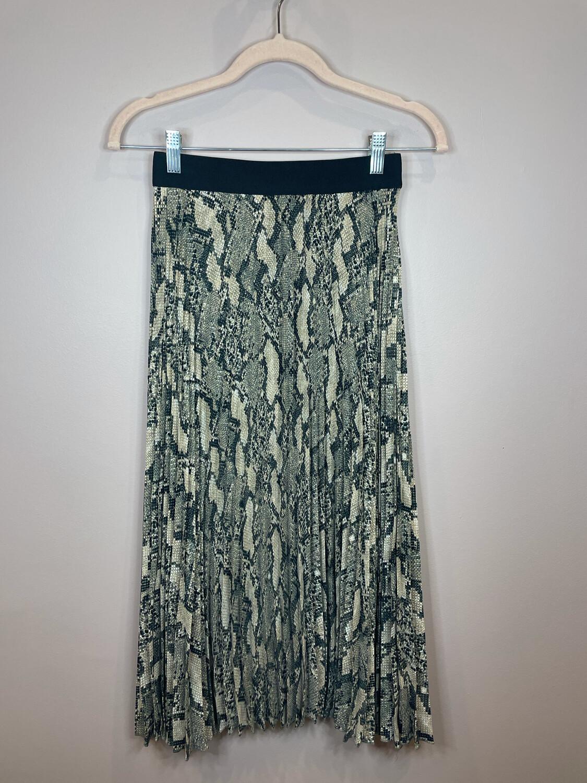H&M Snakeskin Midi Skirt - XS