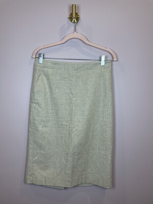 Banana Republic Tan Linen Skirt - Size 2