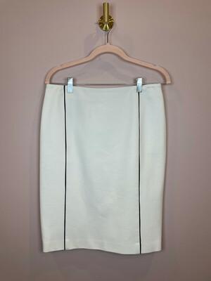 Doncaster White Skirt w/ Black Trim - Size 4