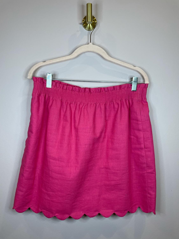 J. Crew Hot Pink Scalloped Skirt - Size 8