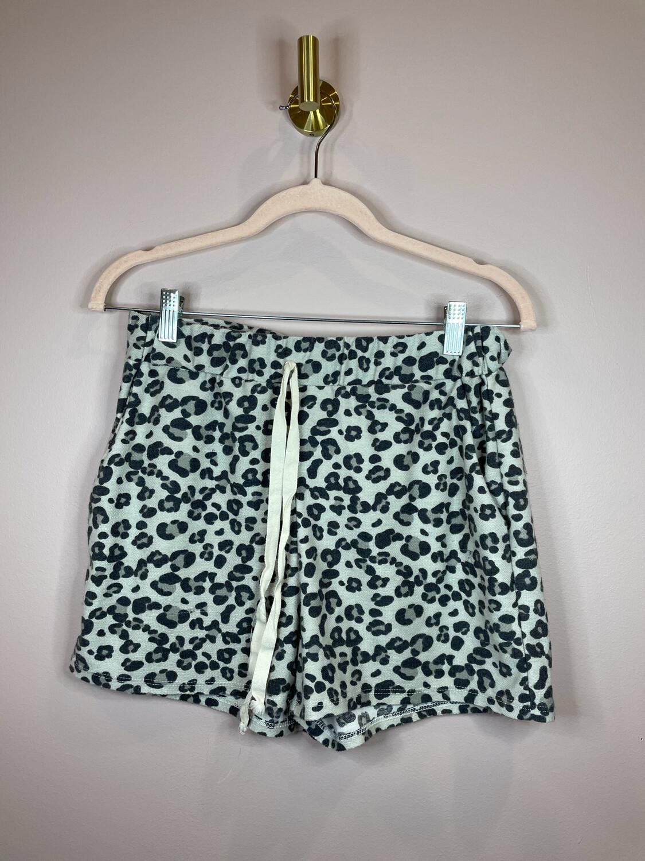 BiBi Leopard Patterned Drawstring Shorts - M