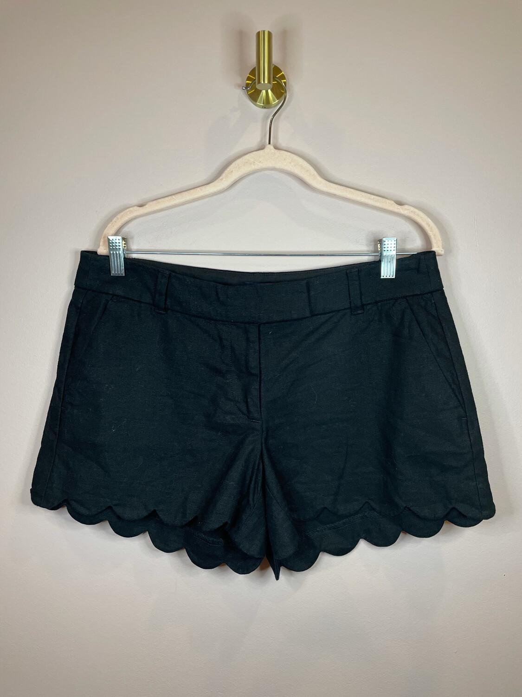 J. Crew Black Scalloped Shorts - Size 10