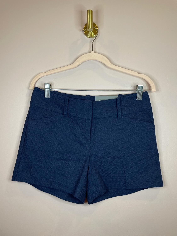 Ann Taylor Navy Textures Signature Shorts - Size 0