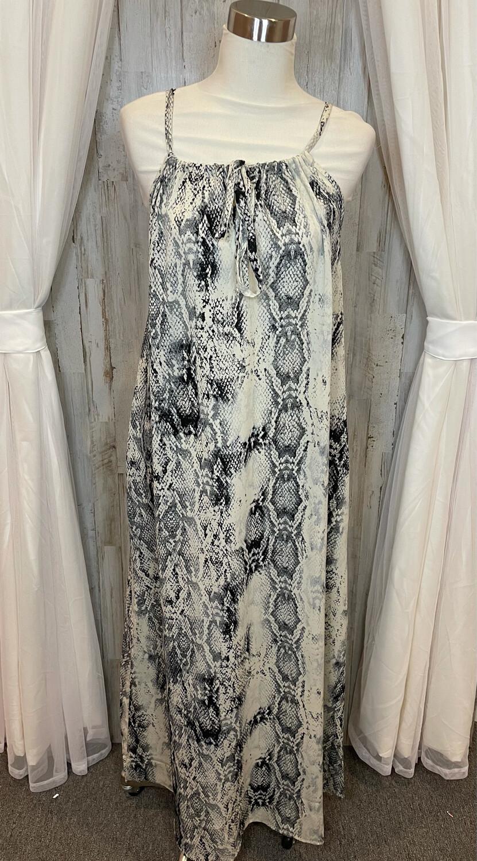 Jodifl Snakeskin Maxi Dress - M