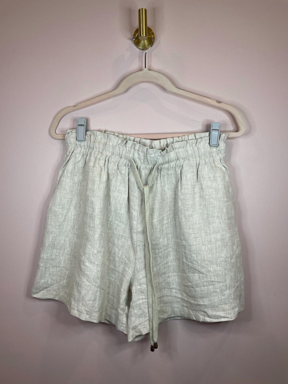 Polly Light Linen Drawstring Shorts - Size 12