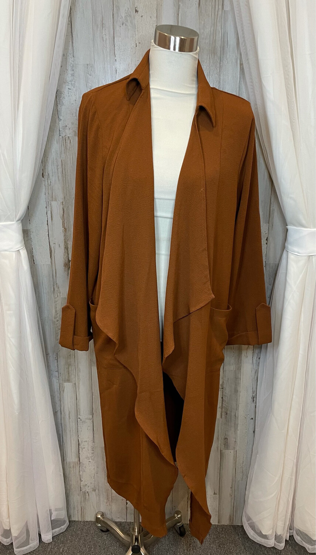 Lush Congac Long Jacket w/ Pockets - XL