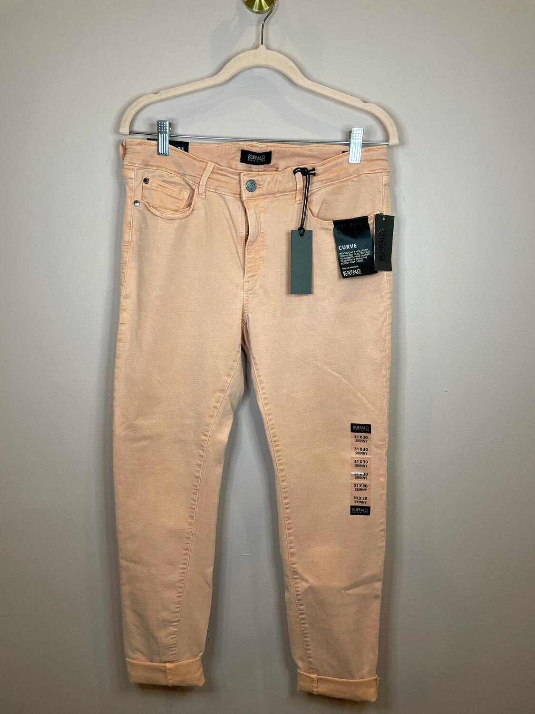 Buffalo David Bitton Peach Curvy Fit Skinny Pants - Size 31W