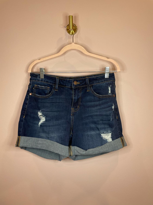 Judy Blue Cuffed Denim Shorts - L