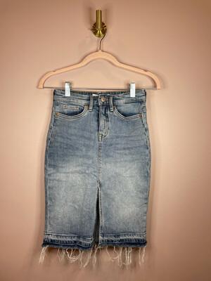 H&M L.O.G.G. Distressed Denim Skirt - Size 2