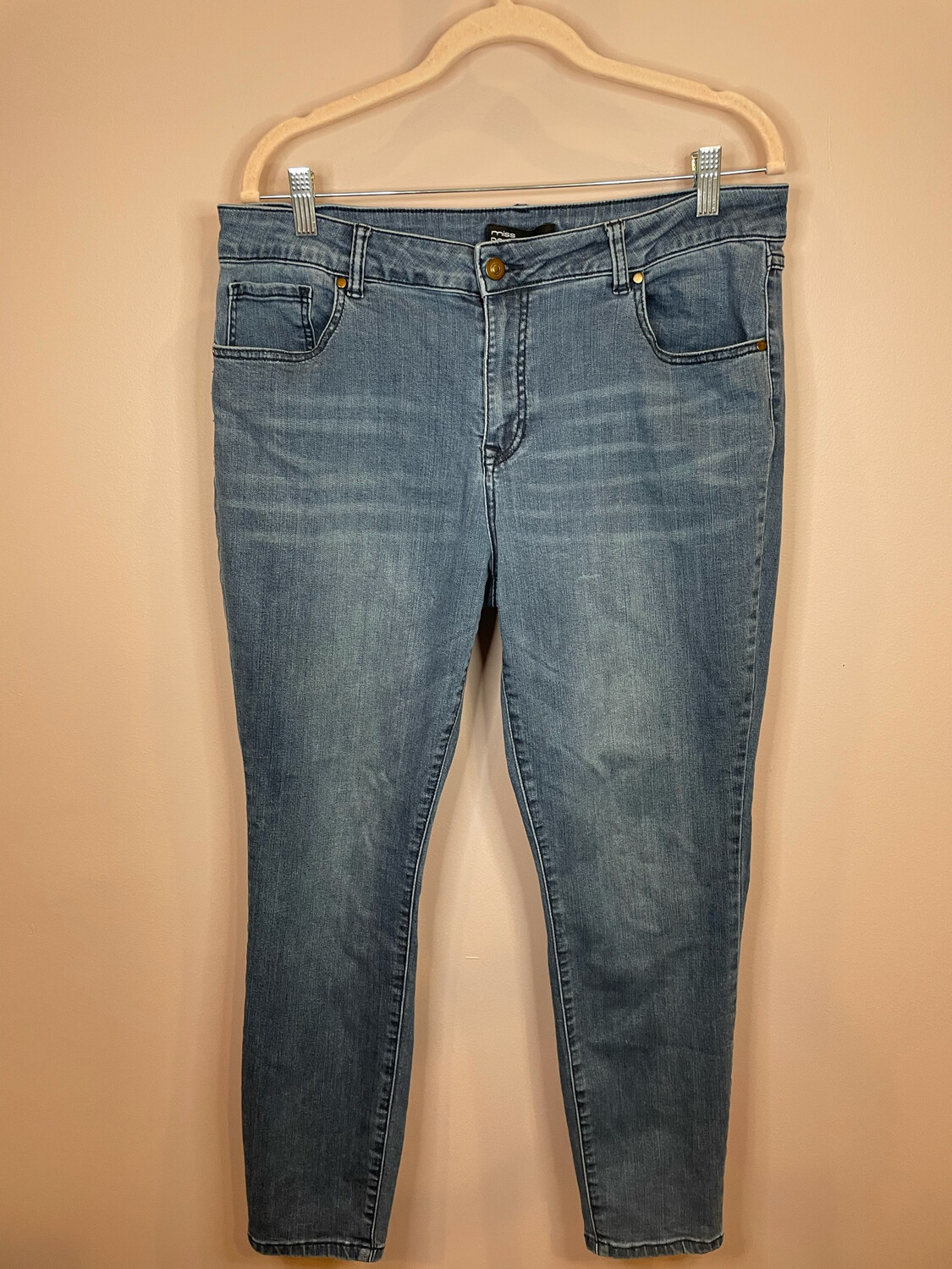 Miss Poured in Blue Denim - Size 14