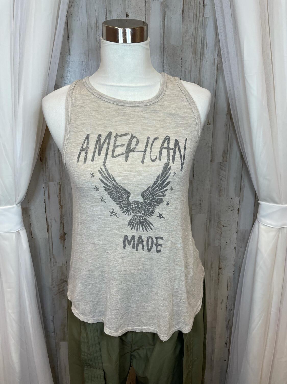"""Sadie + Sage Tan """"American Made""""Tank - S/M"""