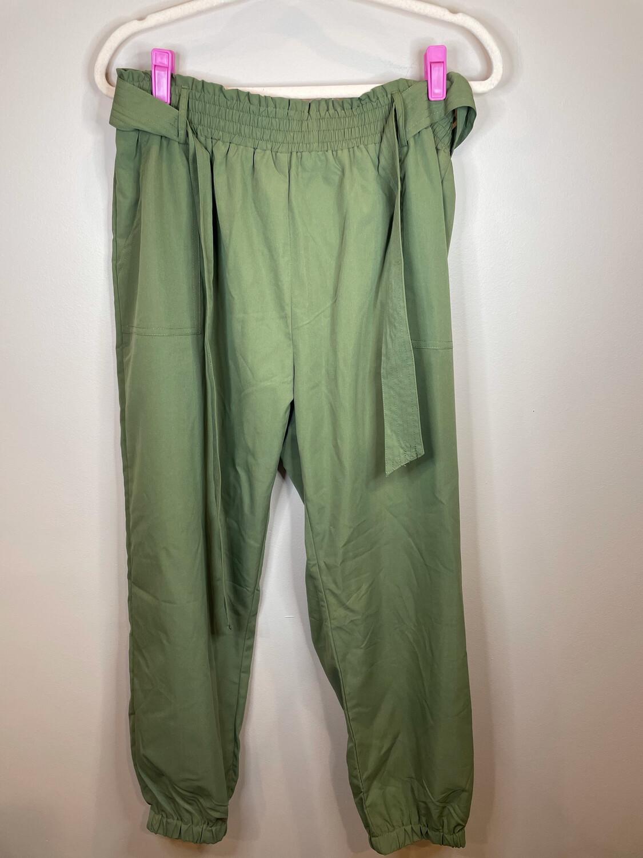 Mod Olive Pants w/Tie Waist - XL