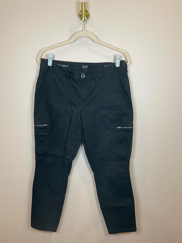 A.n.a. Black Cargo Pants - Size 31/12