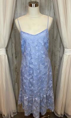 Banana Republic Periwinkle Lace Dress w/Ruffle - Size 8