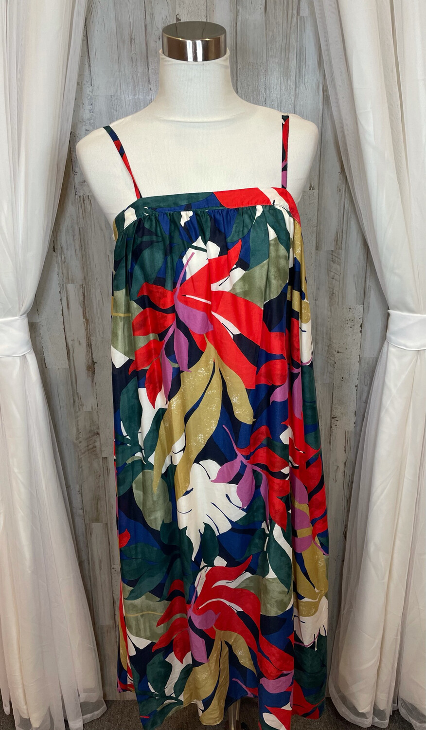 A New Day Multicolor Floral Print Maxi Dress - XS