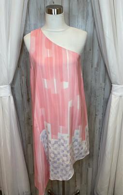 Maeve Pink One Shoulder Dress - Size 6