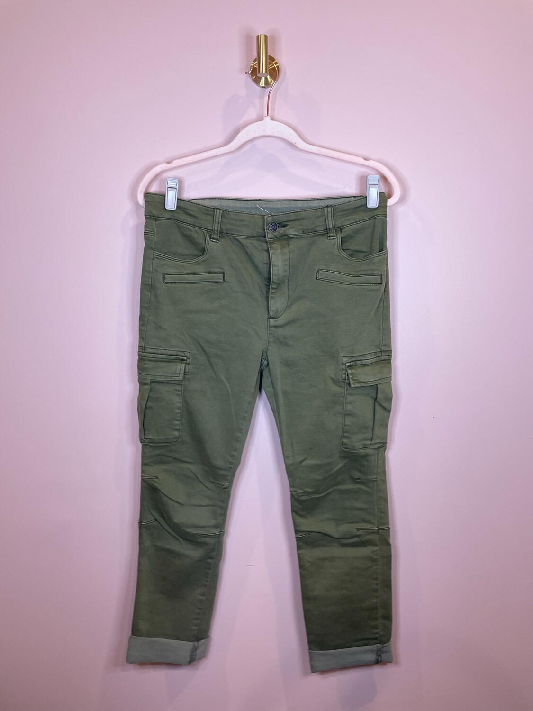Litz Olive Cargo Pants - Size 31
