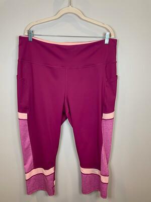 Tek Gear Magenta Crop Athletic Pants w/Peach Detail - 2X