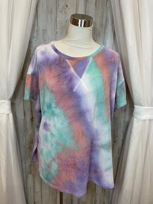 CY Fashion Multicolor Tie Dye Top - L