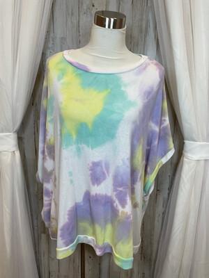 CY Fashion Multicolor Tie Dye Top - OS