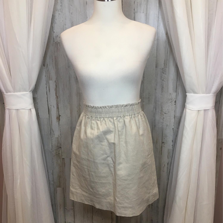 J. Crew Tan Linen Skirt - Size 0