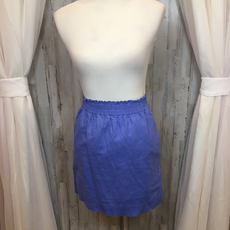 J. Crew Blue Linen Skirt - Size 0