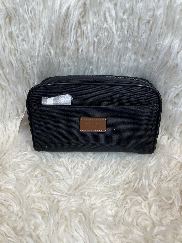 Coach Black Canvas Toiletry Bag
