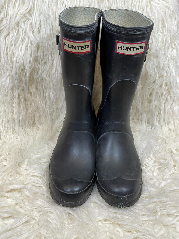 Hunter Short Black Rain Boots - Size 7