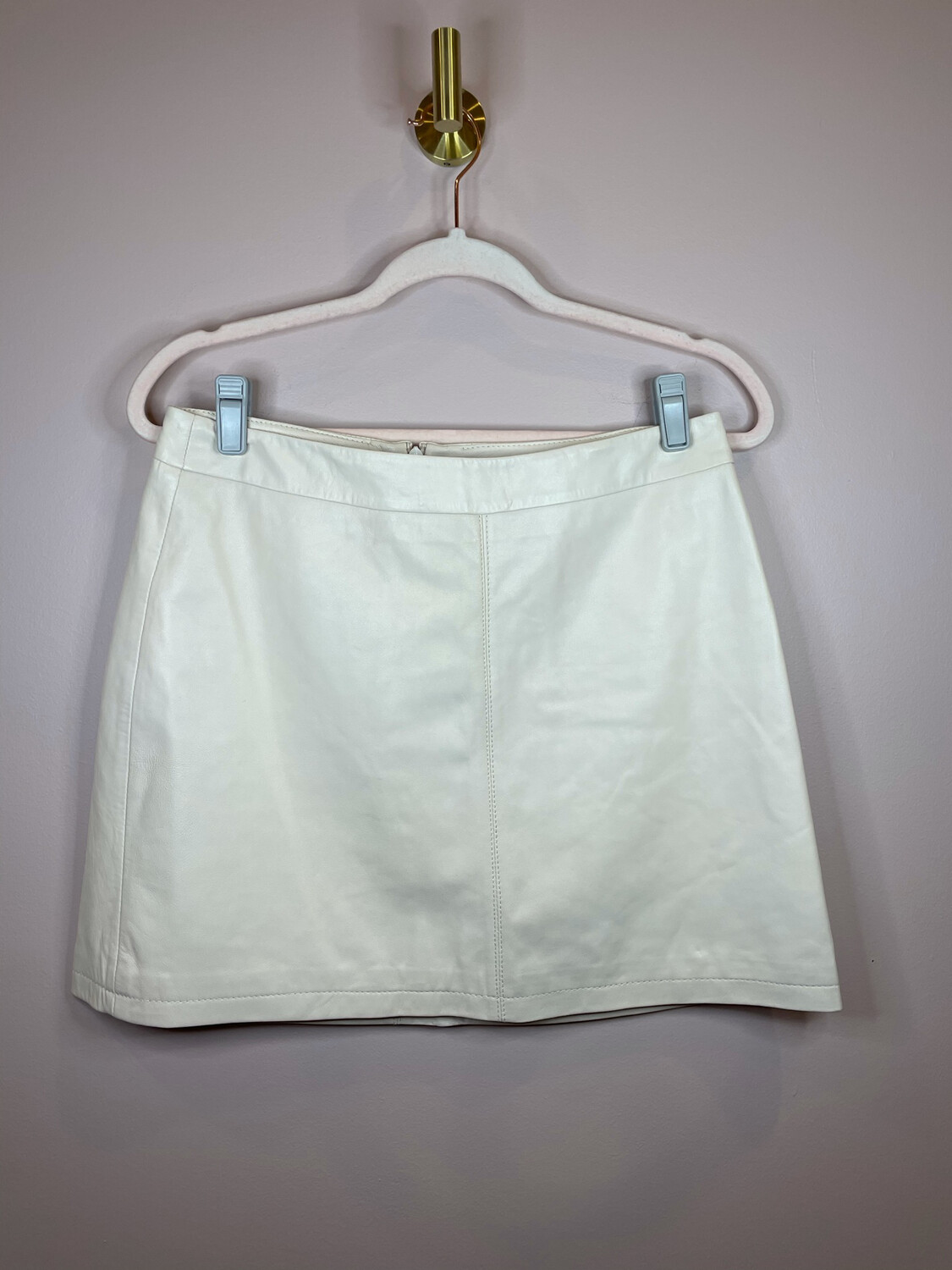 Cupcakes and Cashmere Cream Leather Skirt - Size 6