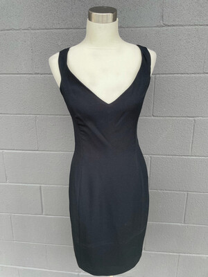 Ann Taylor Black Dress w/Back Criss Cross Straps - Size 6