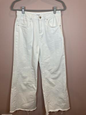 Superdown Distressed White Denim - Size 28