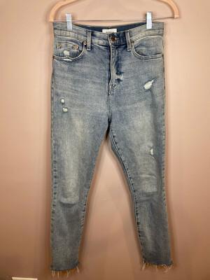 Pistola Distressed Raw Hem Jeans - Size 27