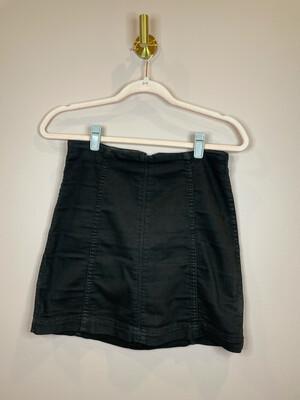 Free People Black Denim Skirt - Size 4