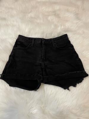 Just Black Black Denim Shorts - S