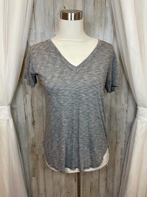 Cloth & Stone Grey Vneck Tee - XS
