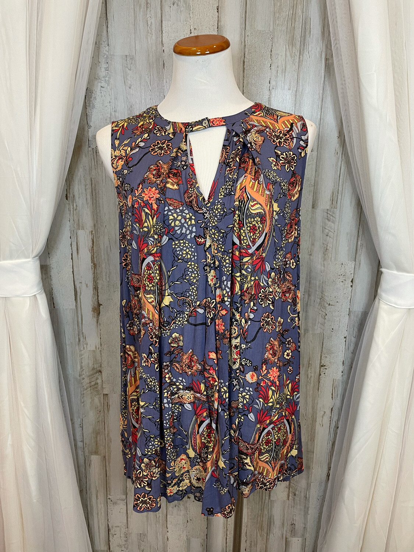 Mittoshop Purple Floral Flow Dress - S