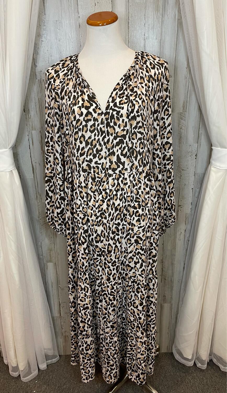 Banana Republic Leopard Maxi Dress - L