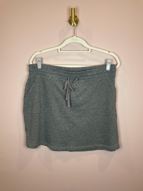 Caslon Grey Drawstring Skirt - L