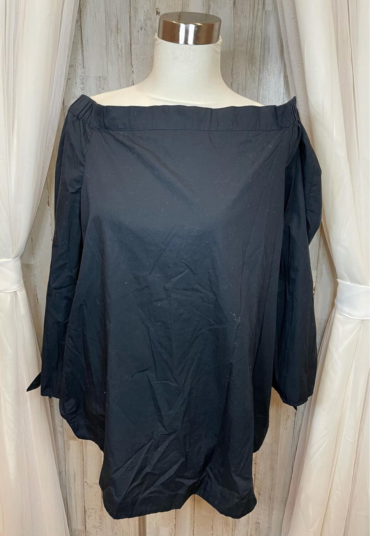 Free People Black Off Shoulder Tie Sleeve Top - L