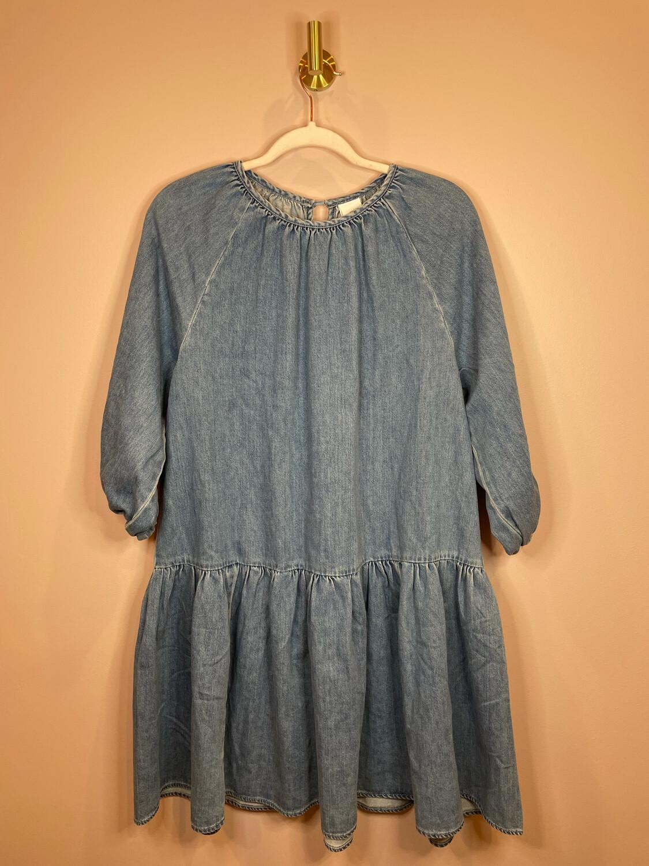 H&M Denim Ruffle Dress - XS