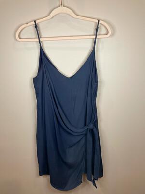 Wild Honey Navy Wrap Dress - M