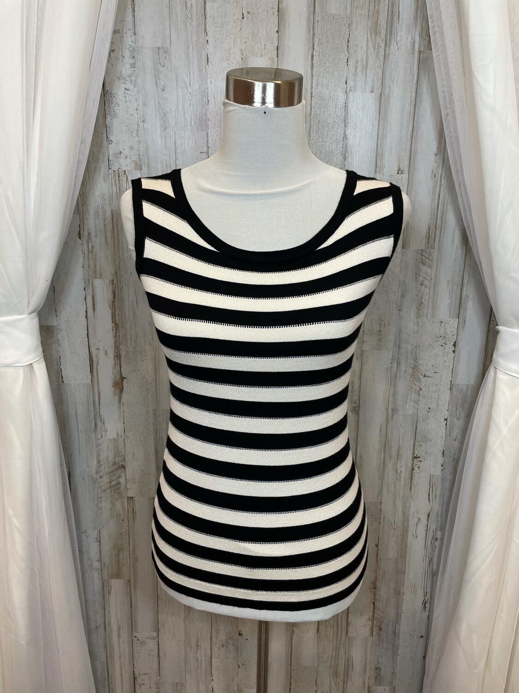 Effie's Heart Black & White Striped Tank - XS/S