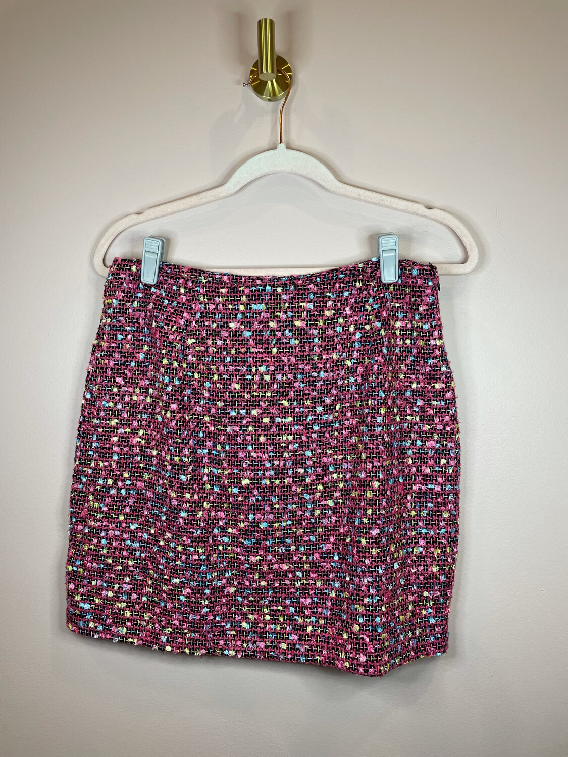 Umgee Hot Pink Skirt w/Yellow & Blue Accent - M