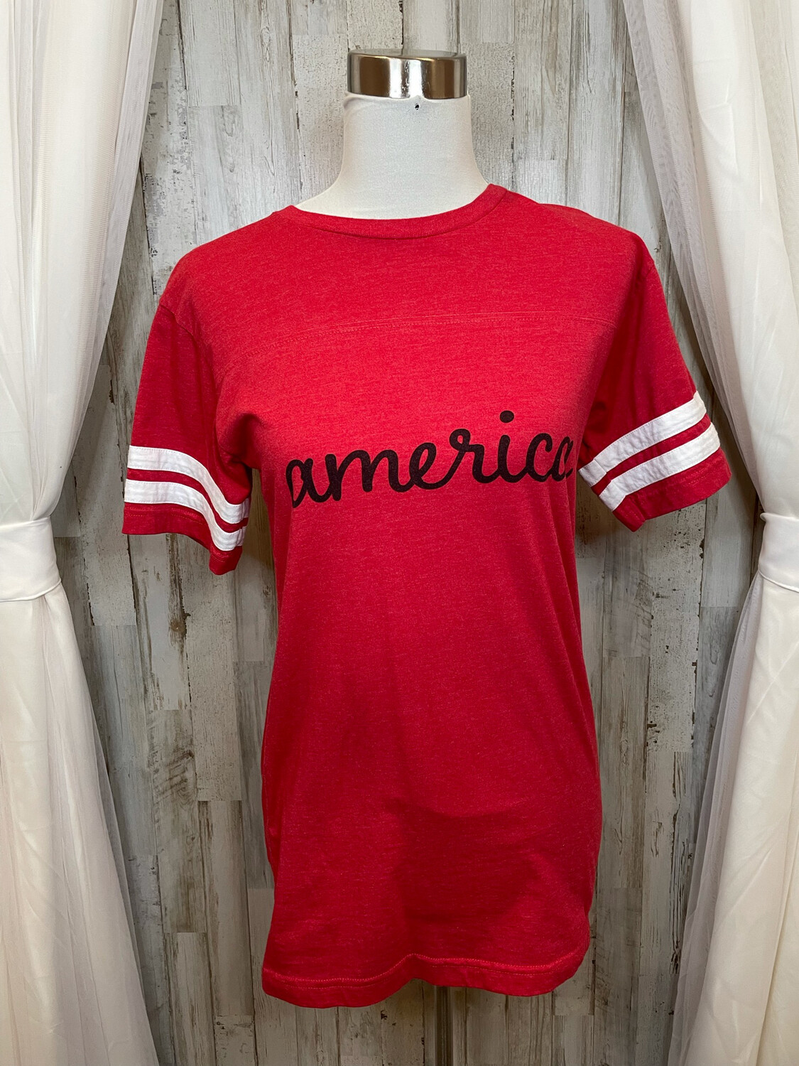 """Live and Tell Red """"America"""" Top - S"""