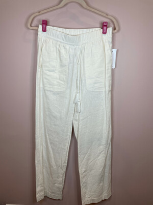 Fever White Pocketed Pants - S