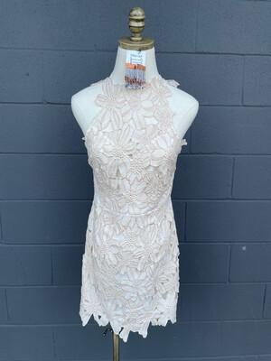 Saylor Free People Cream Jessa Lace Mini Dress - S