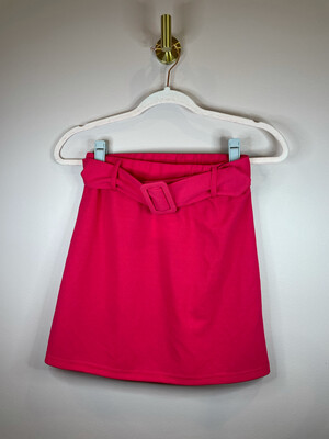 Shein Hot Pink Belted Skirt w/Buckle - S