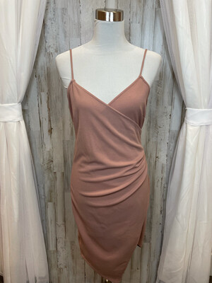 Mind Code Dusty Rose Cinched Dress - XL